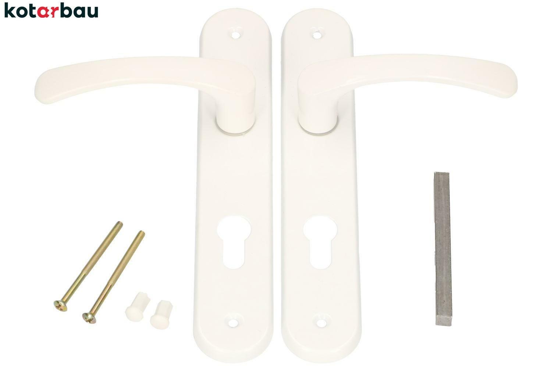 72 mm für Profilzylinder Geschmiedet Antik Schwarz KOTARBAU® Torbeschlag 90mm