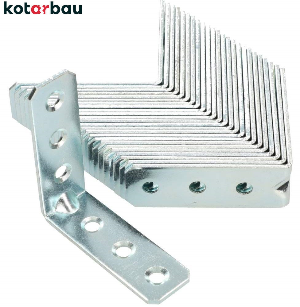 Winkelverbinder 60 x 60 x 40 mm Stahl Bauwinkel Montagelöcher Möbelwinkel