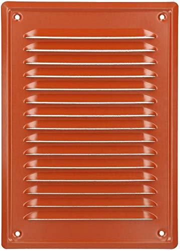 KOTARBAU L/üftungsgitter 230x165 mm Abluftgitter Einschrauben Lackiert Kamin Bel/üftung Braun Insektschutzgitter best/ändig gegen Korrosion